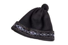 πλεκτή καπέλο διακόσμηση Στοκ Εικόνα