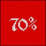 Πλεκτός αριθμός εβδομήντα τοις εκατό Στοκ Φωτογραφίες