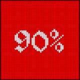 Πλεκτός αριθμός ενενήντα τοις εκατό Στοκ φωτογραφία με δικαίωμα ελεύθερης χρήσης