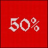 Πλεκτός αριθμός πενήντα τοις εκατό Στοκ Φωτογραφίες