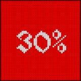 Πλεκτός αριθμός τριάντα τοις εκατό Στοκ Εικόνες