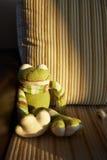 Πλεκτός βάτραχος παιχνιδιών Στοκ εικόνα με δικαίωμα ελεύθερης χρήσης