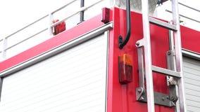 Πλευρά ενός κόκκινου πυροσβεστικού οχήματος φιλμ μικρού μήκους