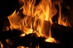 πλευρά πυρκαγιάς στοκ εικόνα