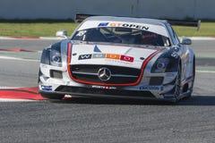 ΠΛΕΥΡΆ του MANUEL DA οδηγών Mercedes sls amg gt3 Διεθνής GT ΑΝΟΙΚΤΉ στοκ εικόνα