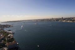 Πλευρά Bosphorus Ευρώπη παλατιών Topkapi με τον κηφήνα Στοκ Εικόνα