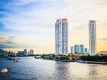Πλευρές ποταμών της Μπανγκόκ Chao Phraya Στοκ εικόνα με δικαίωμα ελεύθερης χρήσης