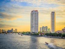 Πλευρές ποταμών της Μπανγκόκ Chao Phraya Στοκ φωτογραφίες με δικαίωμα ελεύθερης χρήσης