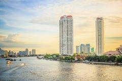 Πλευρές ποταμών της Μπανγκόκ Chao Phraya Στοκ Εικόνα