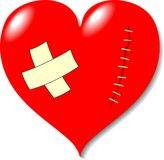 πληγή αγάπης καρδιών διανυσματική απεικόνιση