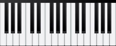 Πληκτρολόγια πιάνων Διάφορες γωνίες και απόψεις διανυσματική απεικόνιση