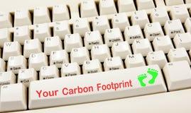 πληκτρολόγιο ίχνους άνθρακα Στοκ Εικόνες