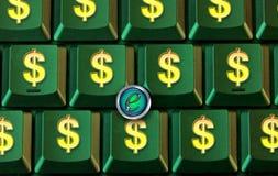 πληκτρολόγιο δολαρίων κουμπιών Στοκ εικόνες με δικαίωμα ελεύθερης χρήσης