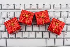 πληκτρολόγιο δώρων στοκ εικόνα με δικαίωμα ελεύθερης χρήσης