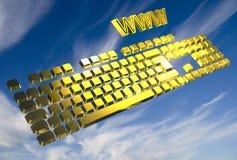 πληκτρολόγιο κίτρινο Στοκ Φωτογραφίες