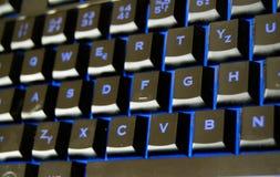 Πληκτρολόγιο με μπλε Στοκ εικόνα με δικαίωμα ελεύθερης χρήσης