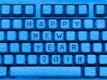 Πληκτρολόγιο με την επιγραφή καλή χρονιά 2018 Στοκ φωτογραφία με δικαίωμα ελεύθερης χρήσης
