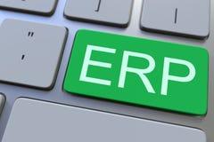Πληκτρολόγιο με το κλειδί cErp τρισδιάστατη εννοιολογική απόδοση Στοκ εικόνες με δικαίωμα ελεύθερης χρήσης