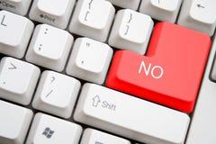 Πληκτρολόγιο με το κόκκινο ΚΑΝΕΝΑ κουμπί στοκ φωτογραφία