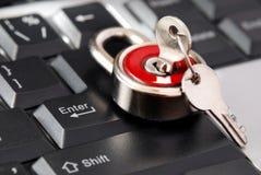 πληκτρολόγιο που κλει&d Στοκ Εικόνες