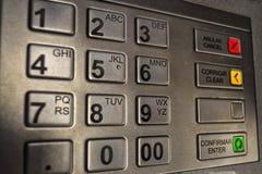 Πληκτρολόγιο του ATM Στοκ φωτογραφίες με δικαίωμα ελεύθερης χρήσης