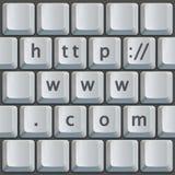 πληκτρολόγιο HTTP COM www Στοκ φωτογραφία με δικαίωμα ελεύθερης χρήσης