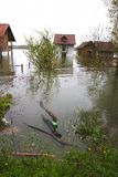 πλημμυρισμένα σπίτια Στοκ Φωτογραφία