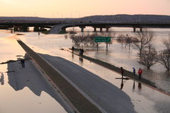 πλημμυρισμένη εθνική οδός στοκ φωτογραφία με δικαίωμα ελεύθερης χρήσης