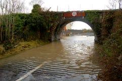 πλημμυρισμένος δρόμος στοκ εικόνα