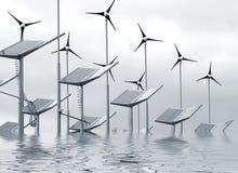 πλημμυρισμένος ηλεκτρική ενέργεια ανεφοδιασμός Στοκ φωτογραφίες με δικαίωμα ελεύθερης χρήσης