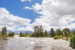 πλημμυρισμένος ποταμός δ&upsi στοκ εικόνες