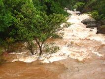 Πλημμυρισμένος ποταμός στην επαρχία Στοκ φωτογραφία με δικαίωμα ελεύθερης χρήσης