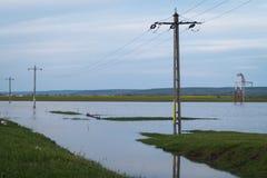 Πλημμυρισμένος τομέας μετά από τη θύελλα Στοκ εικόνες με δικαίωμα ελεύθερης χρήσης