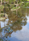Πλημμυρισμένο πάρκο Στοκ φωτογραφίες με δικαίωμα ελεύθερης χρήσης