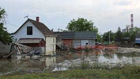πλημμυρισμένο σπίτι Στοκ Φωτογραφία