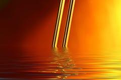 πλημμυρισμένο χρυσό καλώδιο Στοκ εικόνα με δικαίωμα ελεύθερης χρήσης