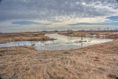 Πλημμύρα άνοιξη Στοκ εικόνα με δικαίωμα ελεύθερης χρήσης