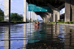 Πλημμύρα στη Μπανγκόκ Στοκ φωτογραφία με δικαίωμα ελεύθερης χρήσης
