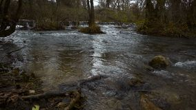 Πλημμύρα του άγριου ποταμού απόθεμα βίντεο
