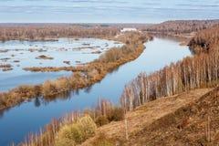 Πλημμύρα του ποταμού Klyazma Στοκ εικόνα με δικαίωμα ελεύθερης χρήσης