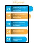 Πληροφορία-γραφικό πρότυπο σχεδίου απεικόνιση αποθεμάτων