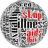 Πληροφορία-κείμενο όρου του AIDS HIV Στοκ Φωτογραφία