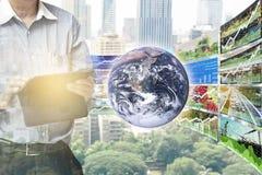 Πληροφορίες δεικτών χρηματιστηρίου προοπτικής Στοκ Εικόνες