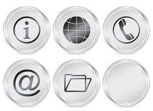 πληροφορίες εικονιδίων κύκλων Στοκ φωτογραφία με δικαίωμα ελεύθερης χρήσης