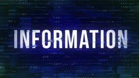 Πληροφορίες - ζωντανεψοντα δυσλειτουργία τσιτάτο με το δυαδικό στο υπόβαθρο ελεύθερη απεικόνιση δικαιώματος