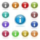 πληροφορίες κουμπιών Στοκ Φωτογραφίες