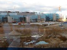 πληρωμένος η Μόσχα χώρος στάθμευσης domodedovo αερολιμένων Εσωτερική άποψη του διεθνούς τερματικού Στοκ εικόνα με δικαίωμα ελεύθερης χρήσης
