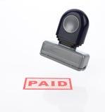 πληρωμένο γραμματόσημο Στοκ Φωτογραφίες