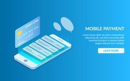 Πληρωμή με κινητό τηλέφωνο ή πιστωτική κάρτα Ακολουθήστε τους πόρους χρηματοδότησής σας στην οθόνη smartphone σας Οικονομικές δια ελεύθερη απεικόνιση δικαιώματος