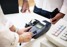 Πληρωμή με πιστωτική κάρτα Στοκ Εικόνες